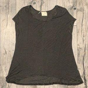 Anthropologie Black and White Short Sleeve Shirt